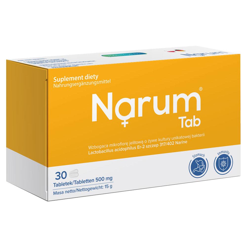 Narum Tab 500 mg auf Basis von Narine, 30 Tabletten