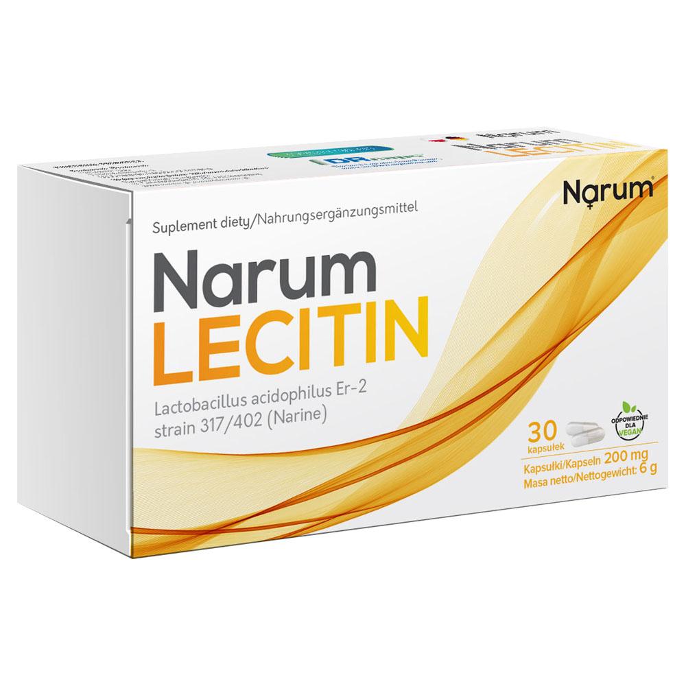 Narum+ Lecithin 200 mg auf Basis von Narine, 30 Kapseln