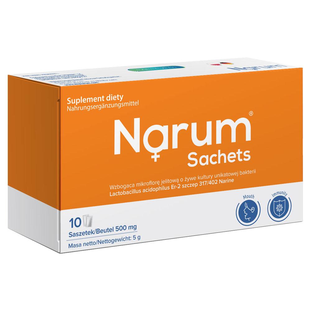 Narum Sachets 500 mg auf Basis von Narine, 10 Beutel