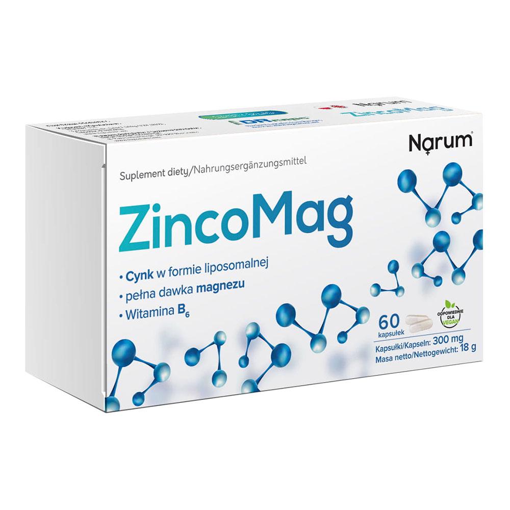 Narum ZincoMag + B6 300 mg, 60 Kapseln