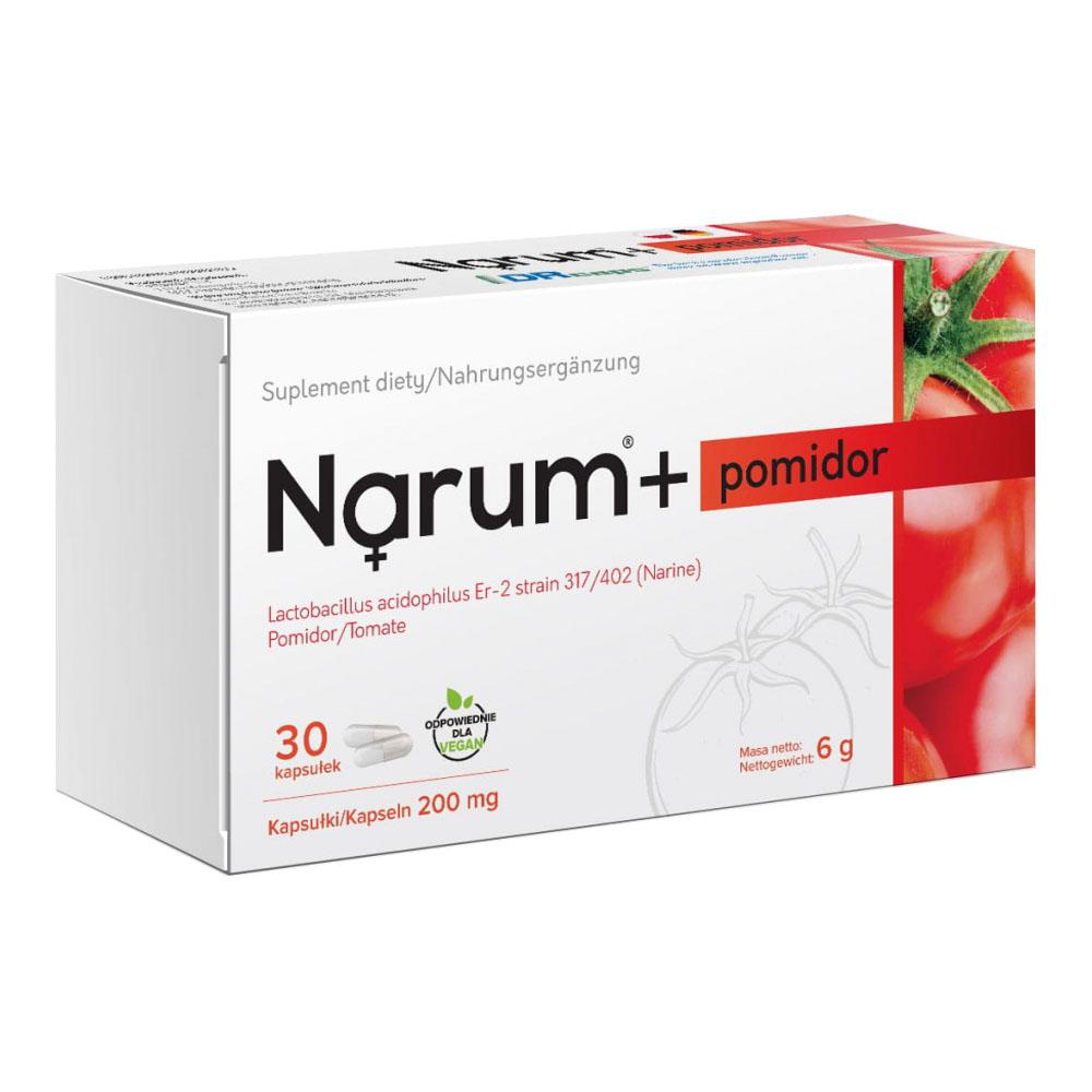 Narum+ Tomate 200 mg auf Basis von Narine, 30 Kapseln