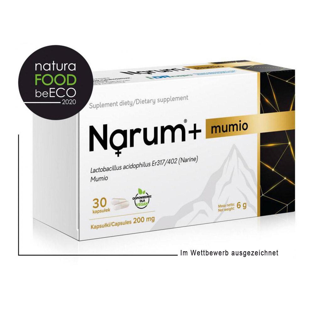 Narum+ Mumio (Mumijo) 200 mg auf Basis von Narine, 30 Kapseln