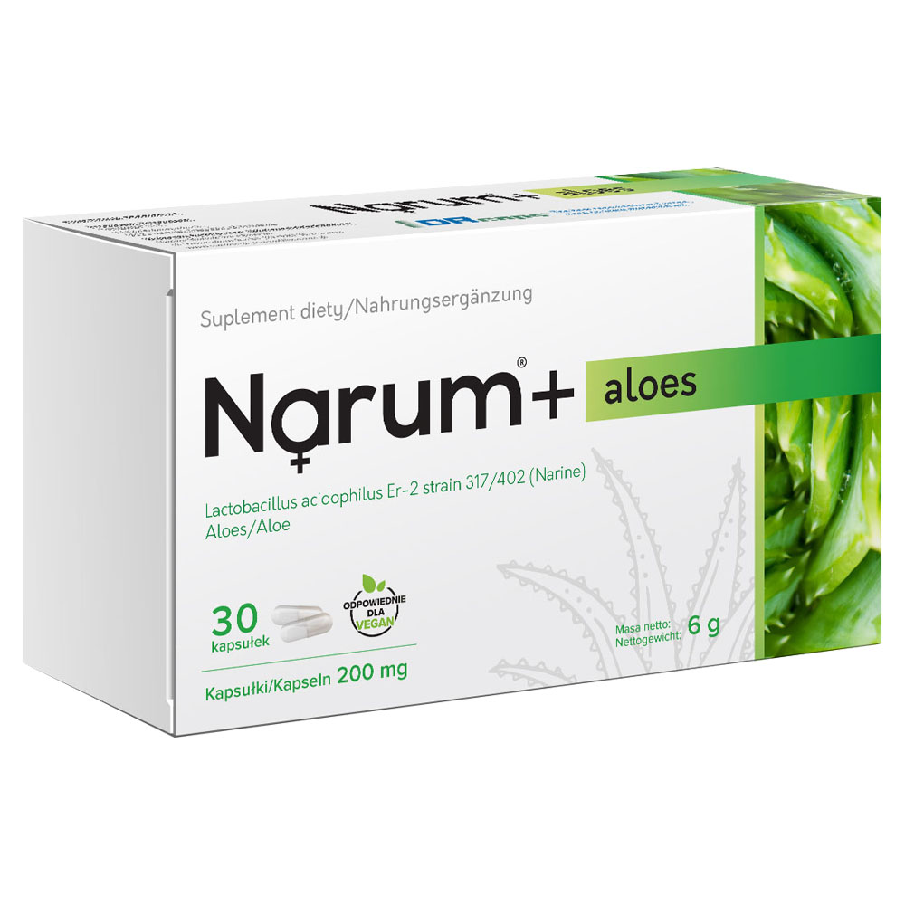 Narum+ Aloe 200 mg auf Basis von Narine, 30 Kapseln