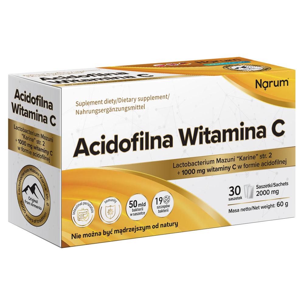 "Narum  Acidophile Vitamin C 1000 mg + Lactobacterium mazuni ""Karine"" Str.2, 30 Beutel"