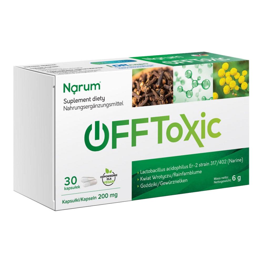 Narum OFFtoxic 200 mg auf Basis von Narine, 30 Kapseln