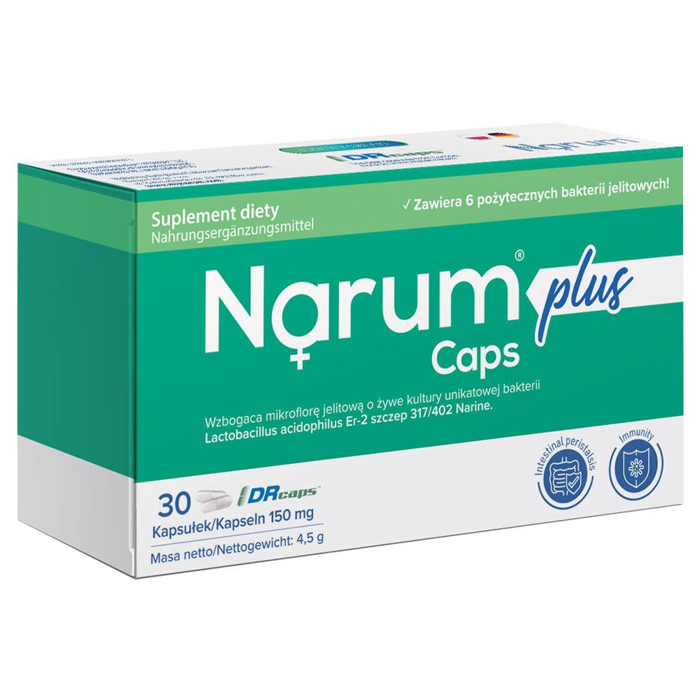 Narum Plus 150 mg auf Basis von Narine, 30 Kapseln