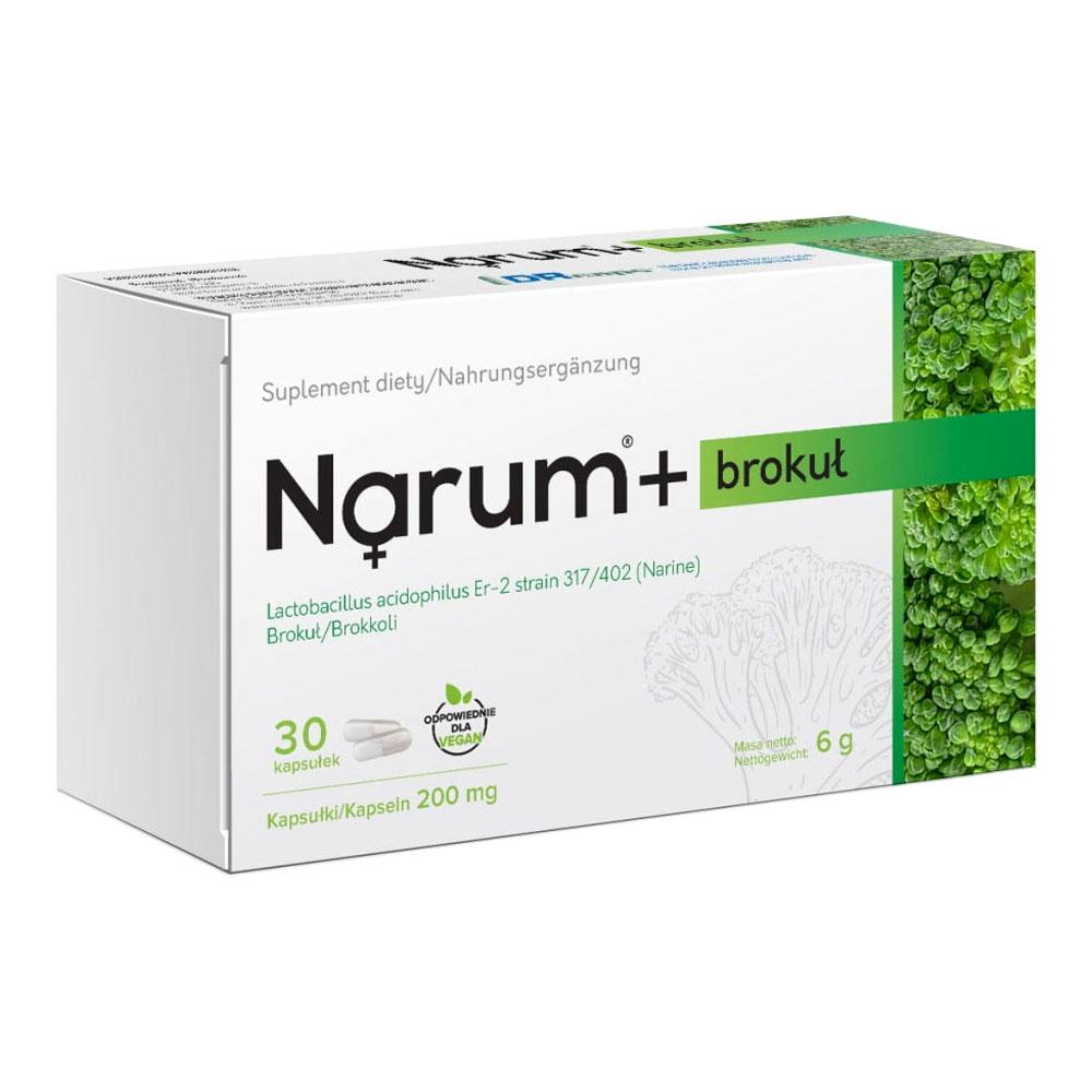 Narum+ Brokkoli 200 mg auf Basis von Narine, 30 Kapseln