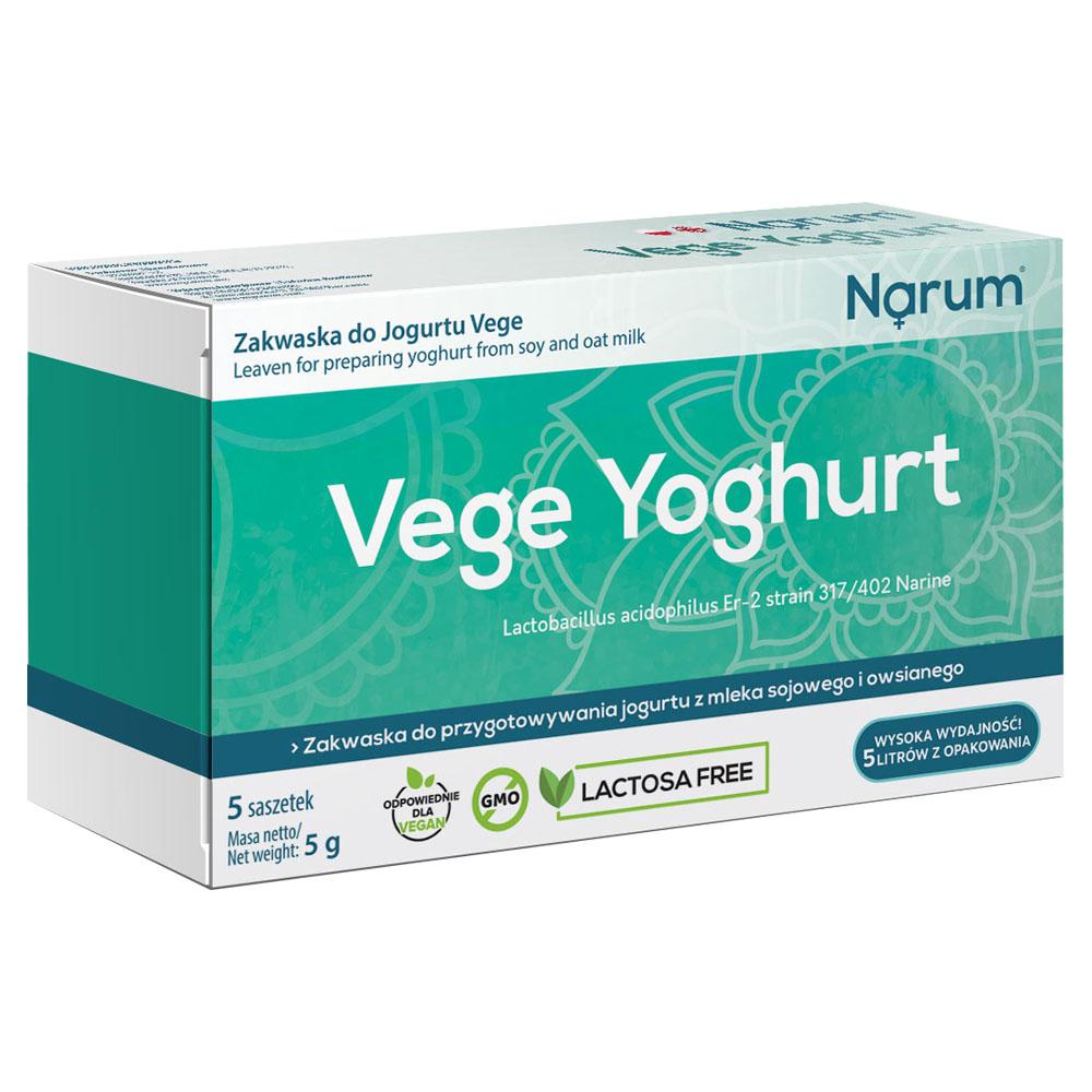Narum Vege Yoghurt Fermentpulver auf Basis von Narine, 5 Beutel