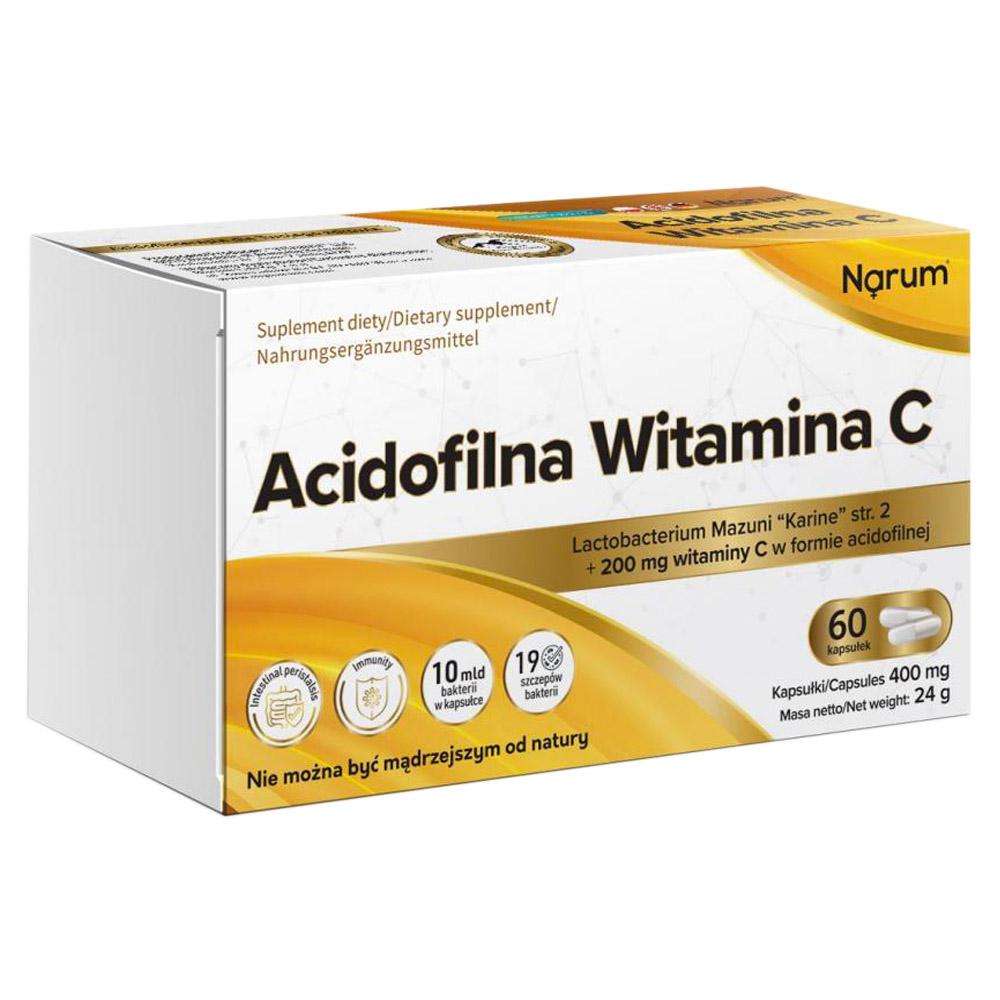 Narum Acidophile Vitamin C 400 mg, 60 Kapseln