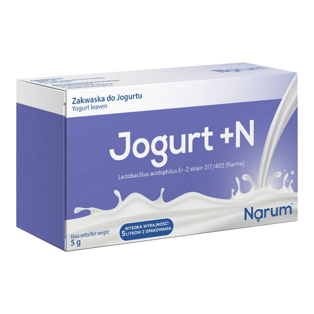 Narum Joghurt +N Fermentpulver auf Basis von Narine, 5 Beutel