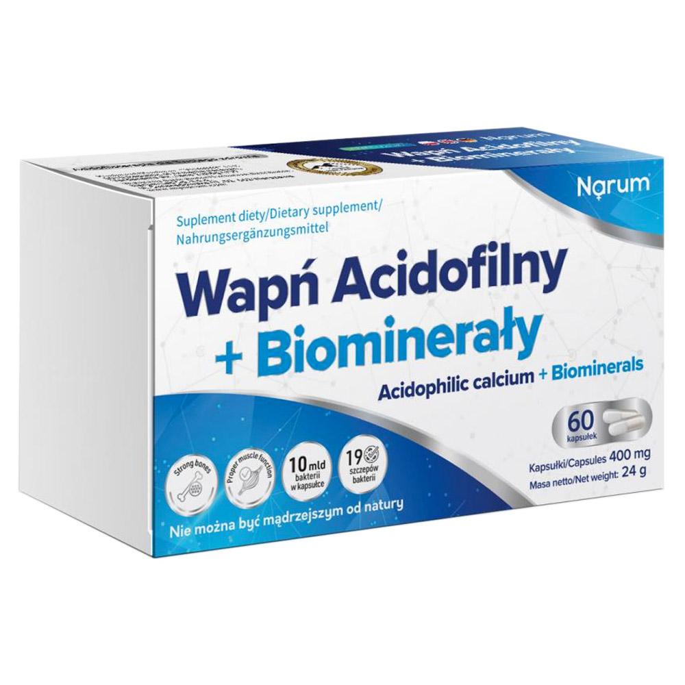 Narum Acidophile Calcium + Biominerale 400 mg, 60 Kapseln